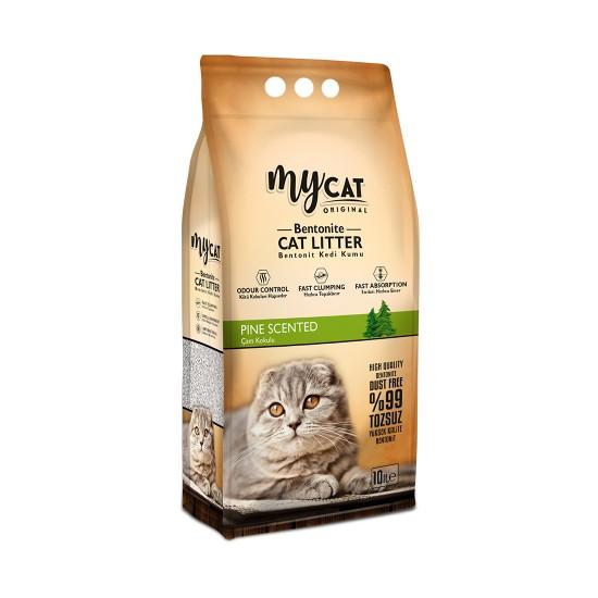 mycat (10 LT) bentonit kedi kumu çam kokulu ( ince tane) Kedi Ürünleri