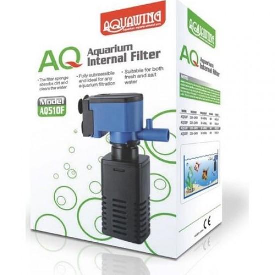 Aquawing AQ510F İç Filtre 4W 400L/H Akvaryum Malzemeleri