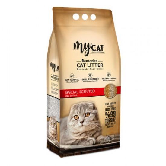mycat (10 LT) bentonit kedi kumu özel parfüm kokulu ( ince tane ) Kedi Ürünleri