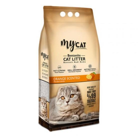 mycat (10 LT) bentonit kedi kumu portakal kokulu ( ince tane) Kedi Ürünleri
