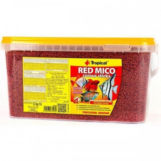 Tropical Red Mico Colour Sticks Yem (Kan Kurdu) Balık Yemleri