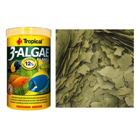 Tropical 3-Algae Flake Aleoveralı Pul Yem Kova 11Lt. / 2000Gr