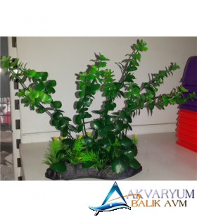 Plastik Akvaryum Bitkisi 25 cm '10252'