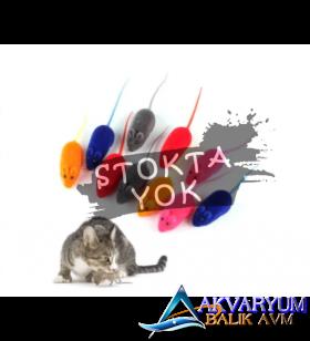 Renkli Fare Figürlü Sesli Kedi Oyuncağı