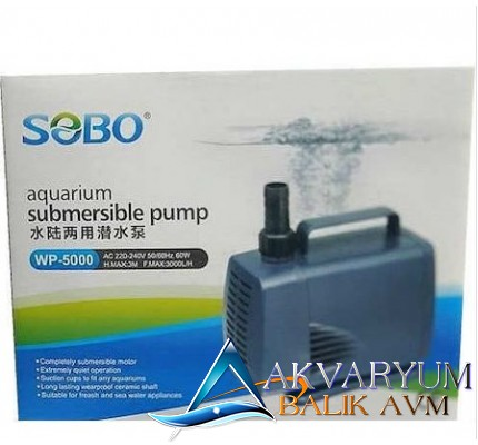 Sobo WP-5000 Akvaryum (Sump) Kafa Motoru