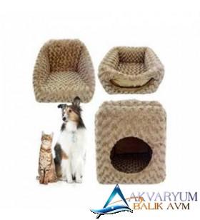 3 Fonksiyonlu Küçük Irk Köpek ve Kedi Evi