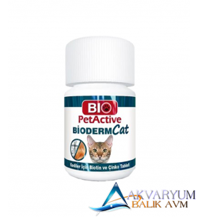 Pet Active Bioderm Biotin ve Çinko Kedi Vitamini 100 Tablet