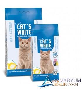 Cat S White Sabun Kokulu Bentonit Kedi Kumu