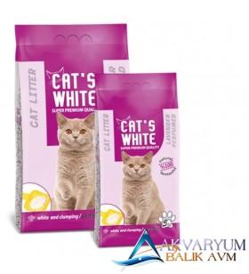 Cat S White Lavanta Kokulu Topaklaşan Kedi Kumu