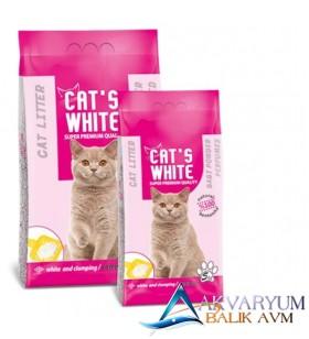 Cat S White Bebek Pudrası Kokulu Topaklaşan Kedi Kumu 5lt