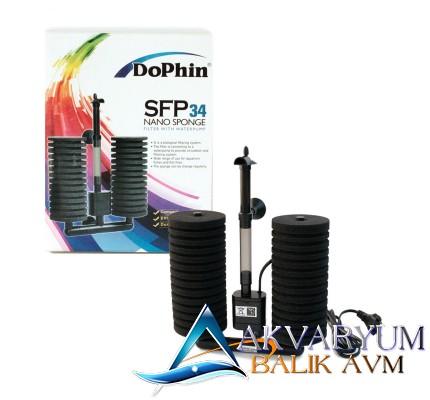 Dophin SFP 34 Nano Sponge Motorlu Pipo Filtre