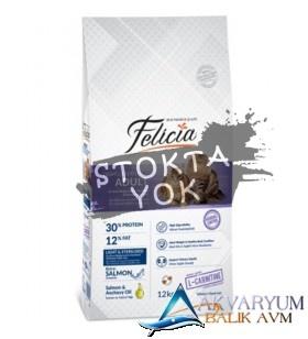 Felicia 12 kg Somonlu Light&Sterilised Kedi Maması