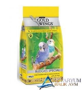Gold Wings Classic Kabuksuz Muhabbet Kuşu Yemi 400 Gr