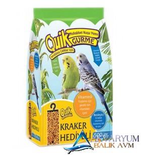 Quik Gurme Muhabbet Kuşu Yemi 500Gr - Kraker Hediyeli
