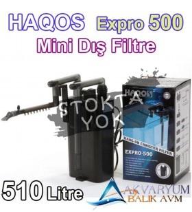 Haqos ExPro-500 MİNİ Askı Dış Filtre 510 Litre/H