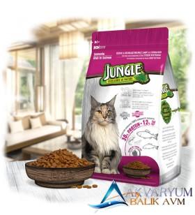 Jungle 1,5 kg Somonlu Sterilesed Kısır Kedi Maması
