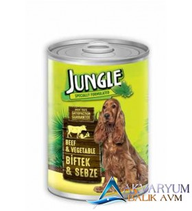 Jungle Köpek 415 gr Biftekli-Sebzeli Konserve.