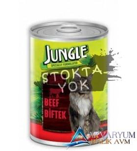 Jungle Kedi 415 gr Biftekli Konserve.