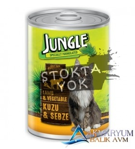 Jungle Kedi 415 gr Kuzu Etli-Sebzeli Konserve.