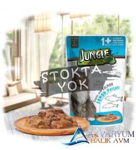 Jungle Pouch Kedi Somonlu Jelli Yaş Mama