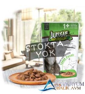 Jungle Pouch Kedi Tavuklu Jelli Yaş Mama 100 Gr