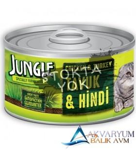 Jungle Tavuklu-Hindili Yaş Ezme Kedi Maması 85 gr