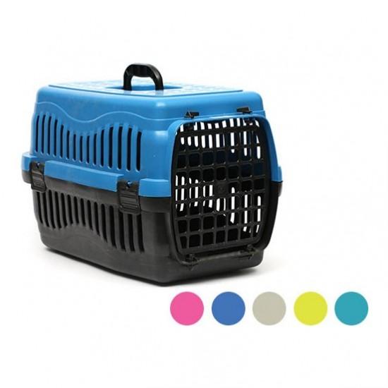 Kedi ve Köpek Taşıma  Çantası Plastik Kapılı