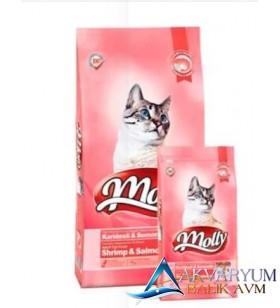 Molly Karides Somonlu Yetişkin Kedi Maması 1 KG- Orjinal Çuvaldan Bölme