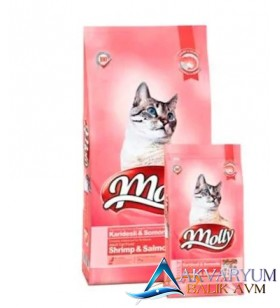 Molly Karides Somonlu Yetişkin Kedi Maması 2 Kg