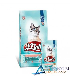 Molly Light & Sterilised Somonlu Kedi Maması 2 Kg