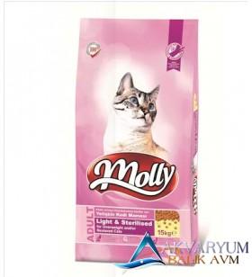 Molly Light Sterilised Tavuklu Kısırlaştırılmış Kedi Maması 2 KG