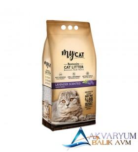 mycat (5 LT) bentonit kedi kumu lavanta kokulu ( ince tane )