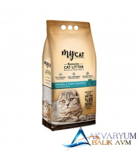mycat (5 LT) bentonit kedi kumu marsilya sabun kokulu ( ince tane )