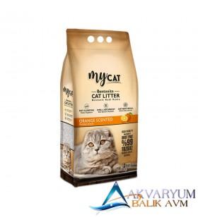 mycat (5 LT) bentonit kedi kumu portakal kokulu ( ince tane )