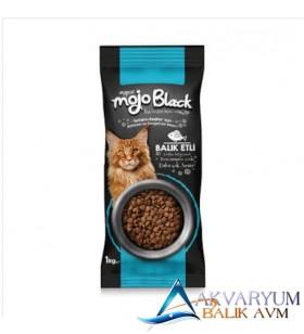 Mycat Mojo Black Sterilized Balıklı Kedi Maması 1kg