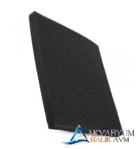 Siyah Biyolojik Sünger 50x25x5 cm İnce Gözenekli