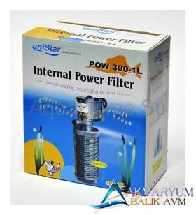UniStar Pow 300-1L Akvaryum İç Filtre 500 L/H