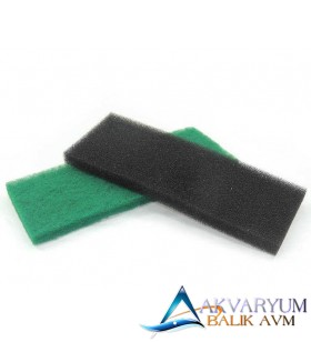 XY-1810 Siyah-Yeşil Çift Filtre Süngeri 32x12x2 cm
