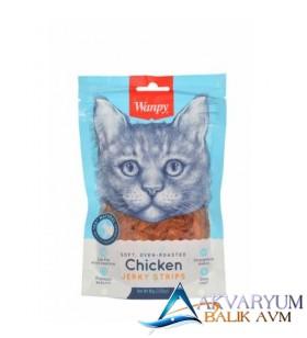 Wanpy Kavrulmuş Tavuk Parçaları Kedi Ödülü 80gr