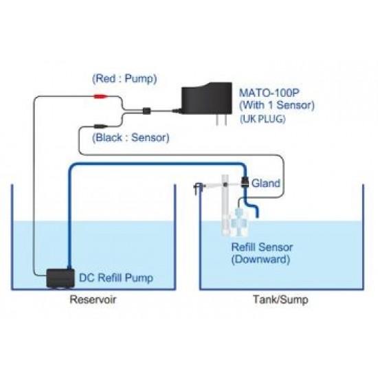 AutoAqua, Smart Ato Mato-100P (Otomatik Su Tamamlama, Tek Şamandıra) Akvaryum Malzemeleri
