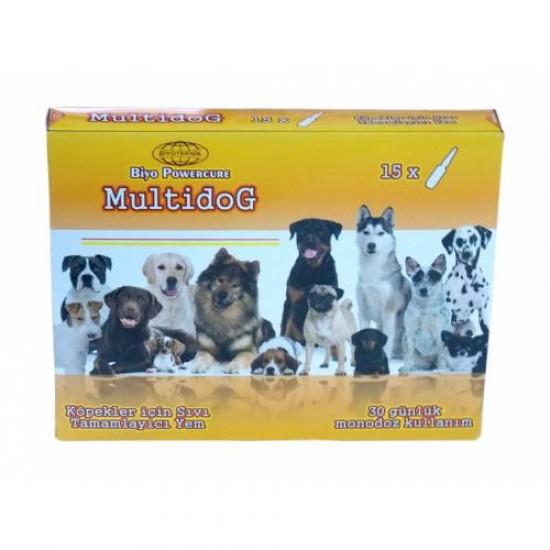 BiyoTeknik Powercure MultiDog Sıvı Tamamlayıcı Yem Köpek Ürünleri