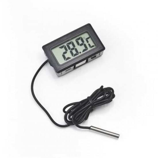 Dijital Termometre - Siyah Akvaryum Malzemeleri