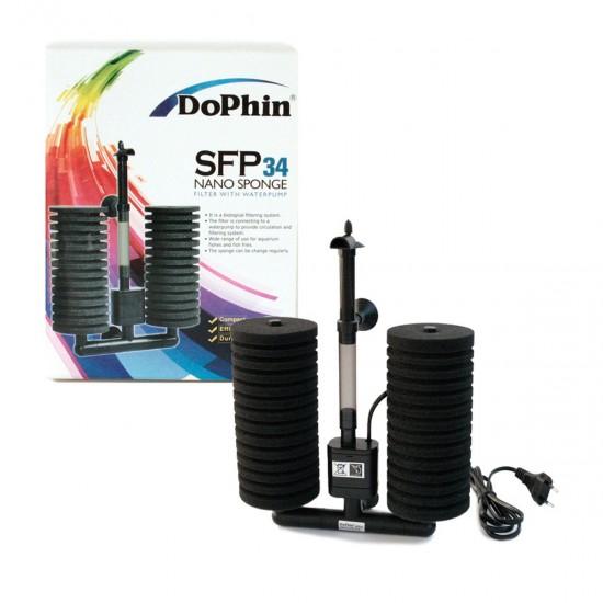 Dophin SFP 34 Nano Sponge Motorlu Pipo Filtre Akvaryum Malzemeleri