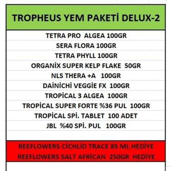 Tropheus Yem Paketi DELUX-2 ÜCRETSİZ KARGO Yem Paketleri