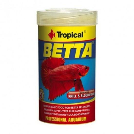 Tropical Betta 15gr /50ml Kurutulmuş Krill ve Kankurdu Parçacıklı